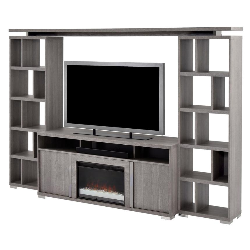 Tivo Wall Unit w/Speaker & Faux Fireplace Made in Italy  main image, 1 of 6 images.