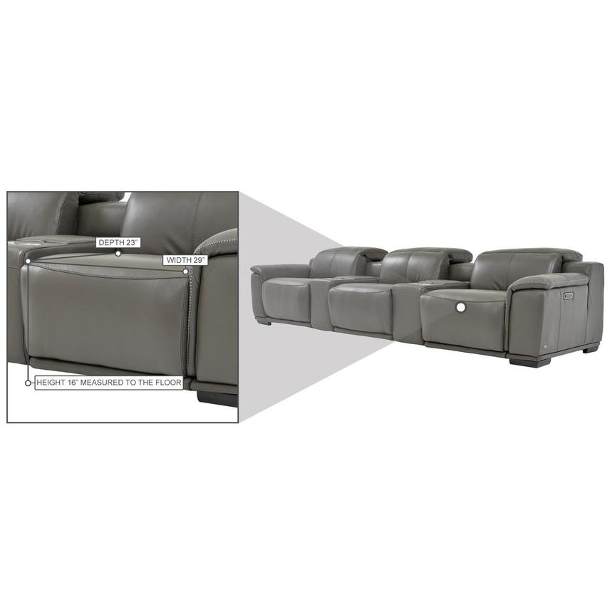 Davis 2.0 Dark Gray Home Theater Leather Seating  alternate image, 10 of 10 images.
