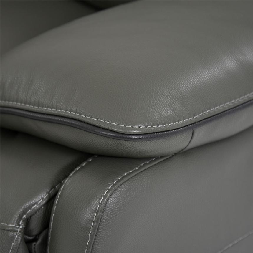 Austin Dark Gray Leather Power Reclining Sectional  alternate image, 8 of 9 images.