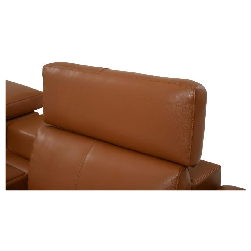 Charlie Tan Leather Power Reclining Sectional  alternate image, 5 of 10 images.