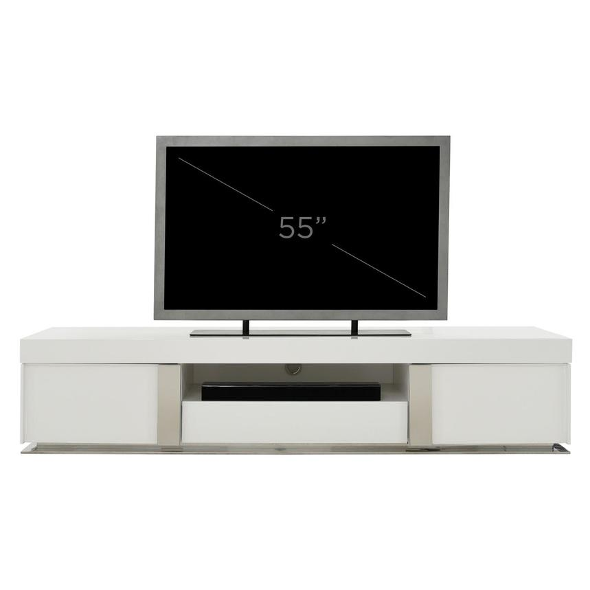 Grand Night White Gloss TV Stand w/Speakers  alternate image, 10 of 10 images.