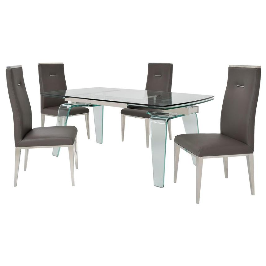 Boston/Hyde Gray 5-Piece Formal Dining Set  main image, 1 of 15 images.