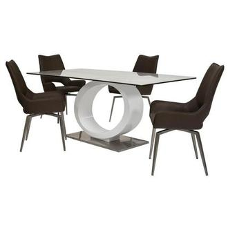 Fenti/Kalia Brown 5-Piece Formal Dining Set