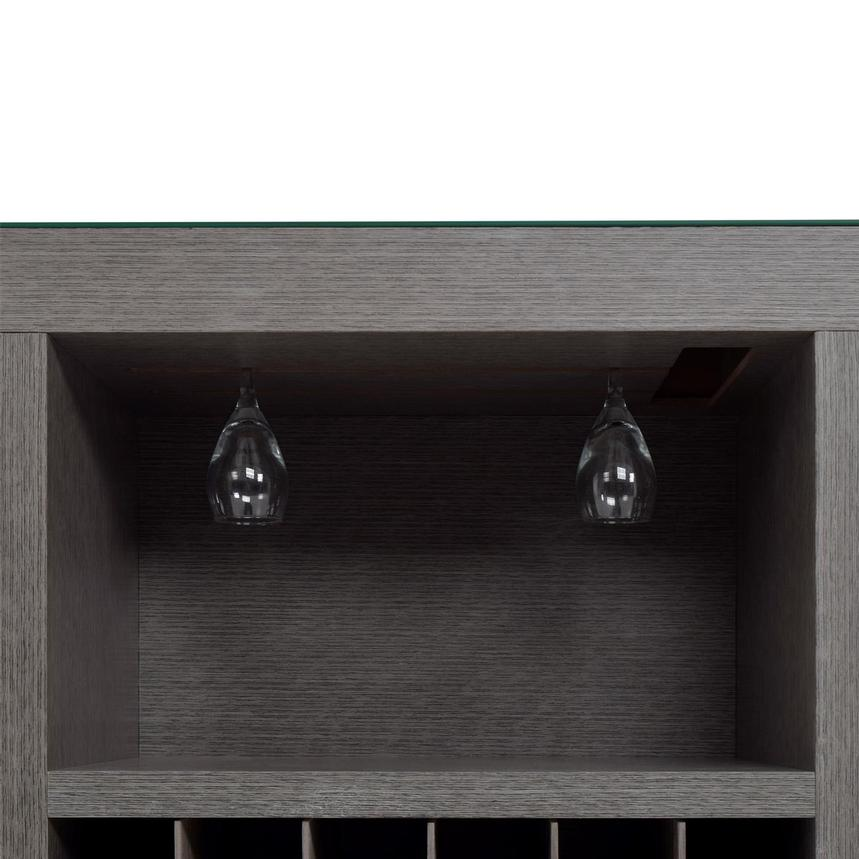 Freeport Gray Bar Cabinet  alternate image, 6 of 8 images.