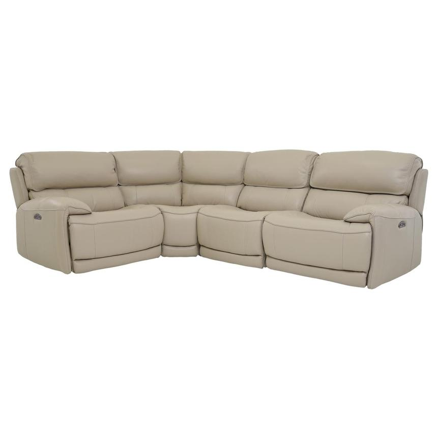 Cody Cream Power Motion Leather Sofa w/Right & Left Recliners  main image, 1 of 6 images.