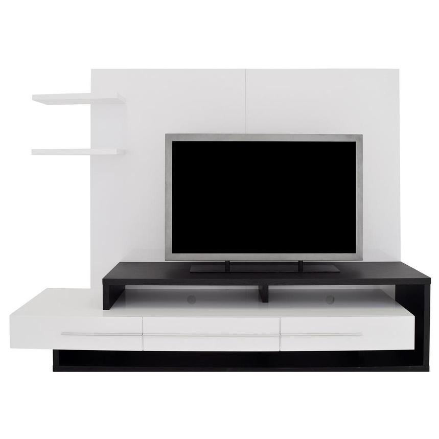 Avanti Dark Oak/White Wall Unit  main image, 1 of 6 images.
