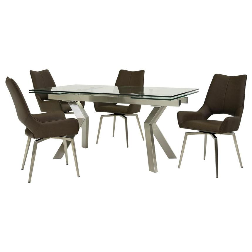 Lynne Clear/Kalia Brown 5-Piece Dining Set  main image, 1 of 14 images.