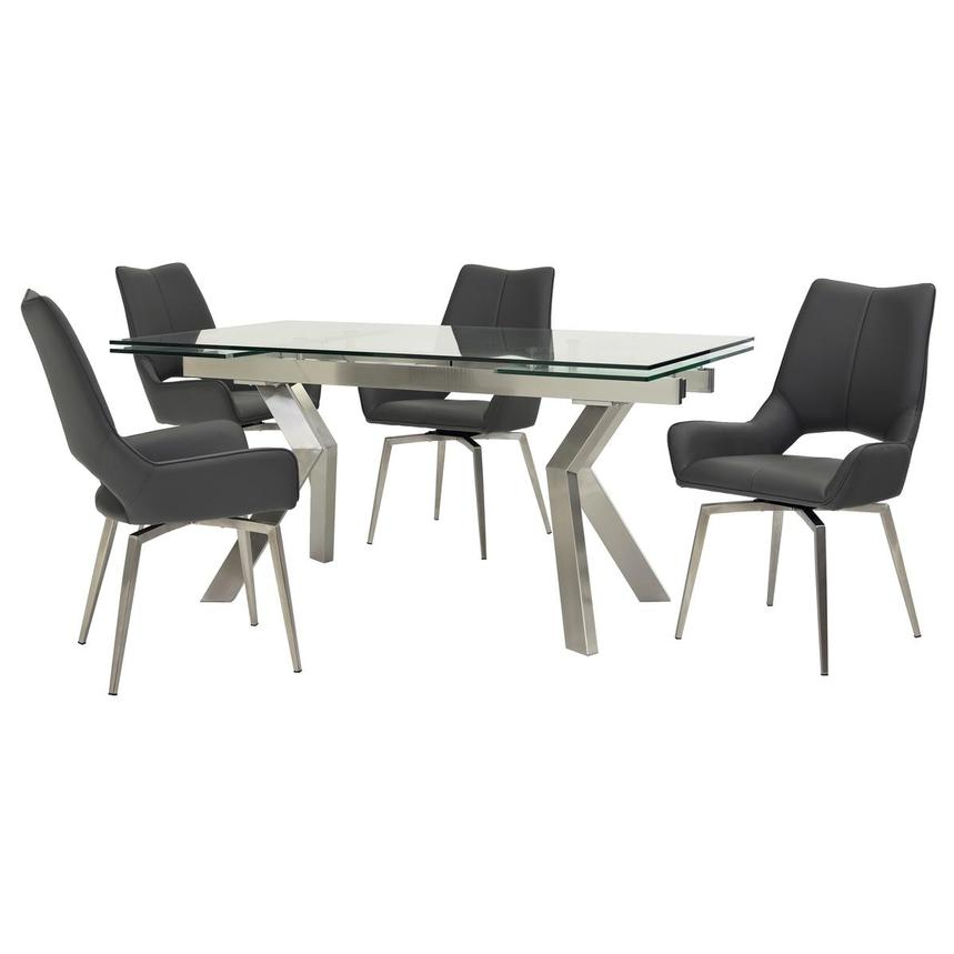 Lynne Clear/Kalia Gray 5-Piece Formal Dining Set  main image, 1 of 14 images.