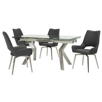 Lynne Clear/Kalia Gray 5-Piece Formal Dining Set