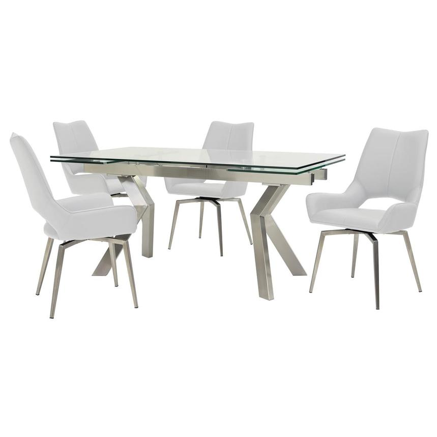 Lynne Clear/Kalia White 5-Piece Formal Dining Set  main image, 1 of 14 images.