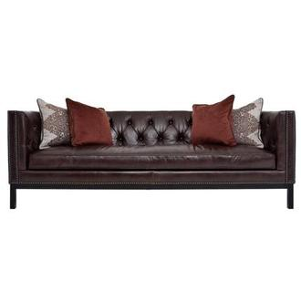 Sophia Brown Leather Sofa