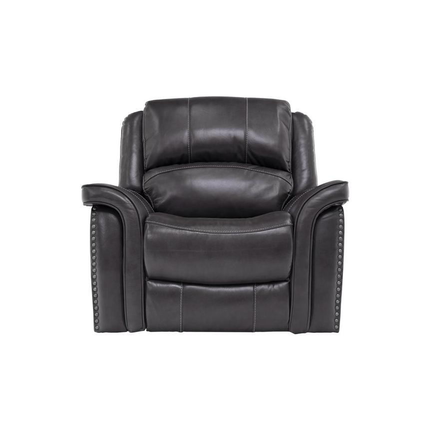 Raleigh Gray Power Motion Leather Recliner  main image, 1 of 9 images.