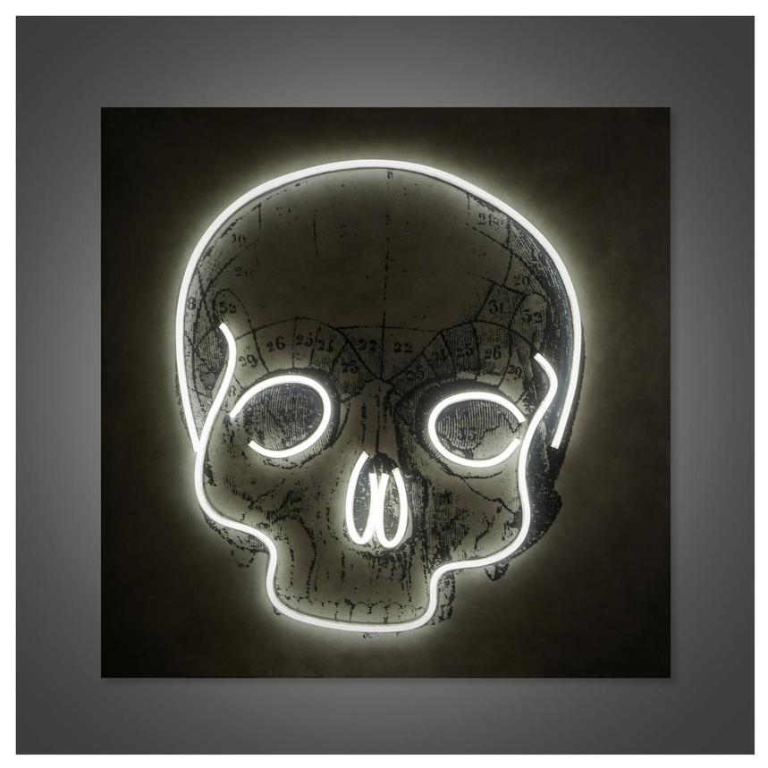 Quietus Wall Decor w/Neon LED Light  alternate image, 2 of 5 images.