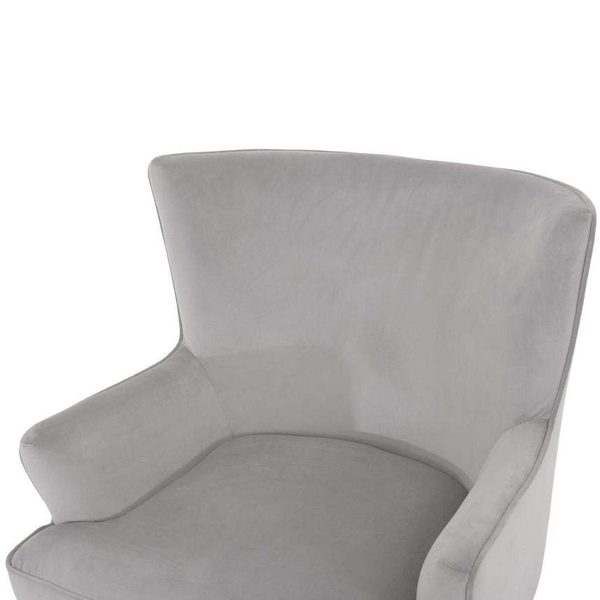 Zita Gray Accent Chair  alternate image, 5 of 6 images.