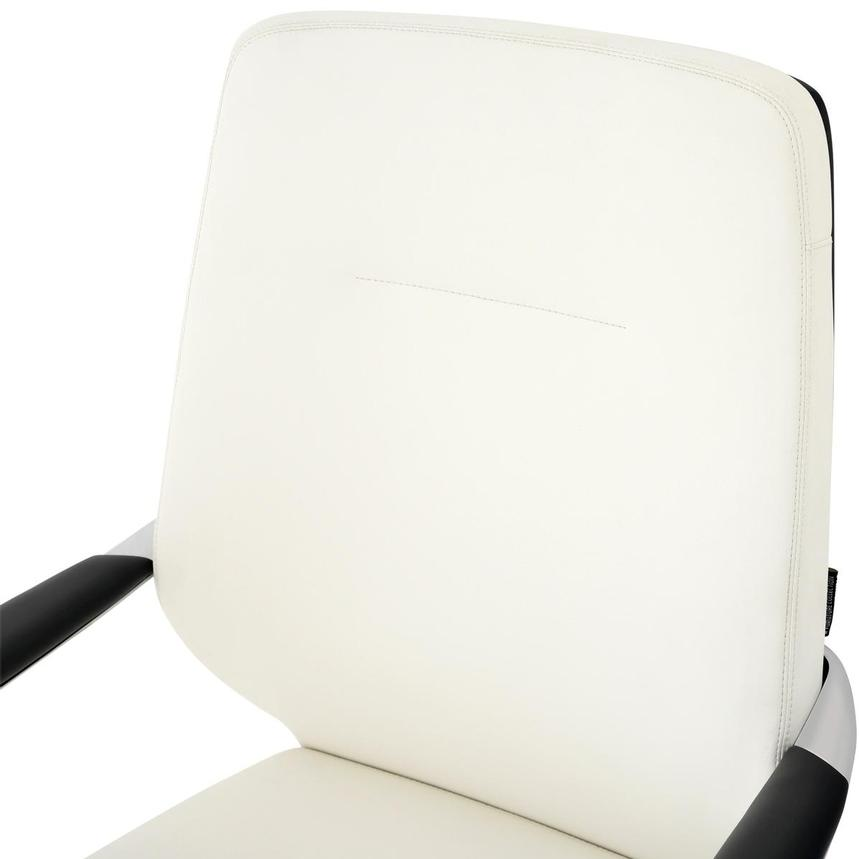 Yoshi White Low Back Desk Chair  alternate image, 6 of 8 images.