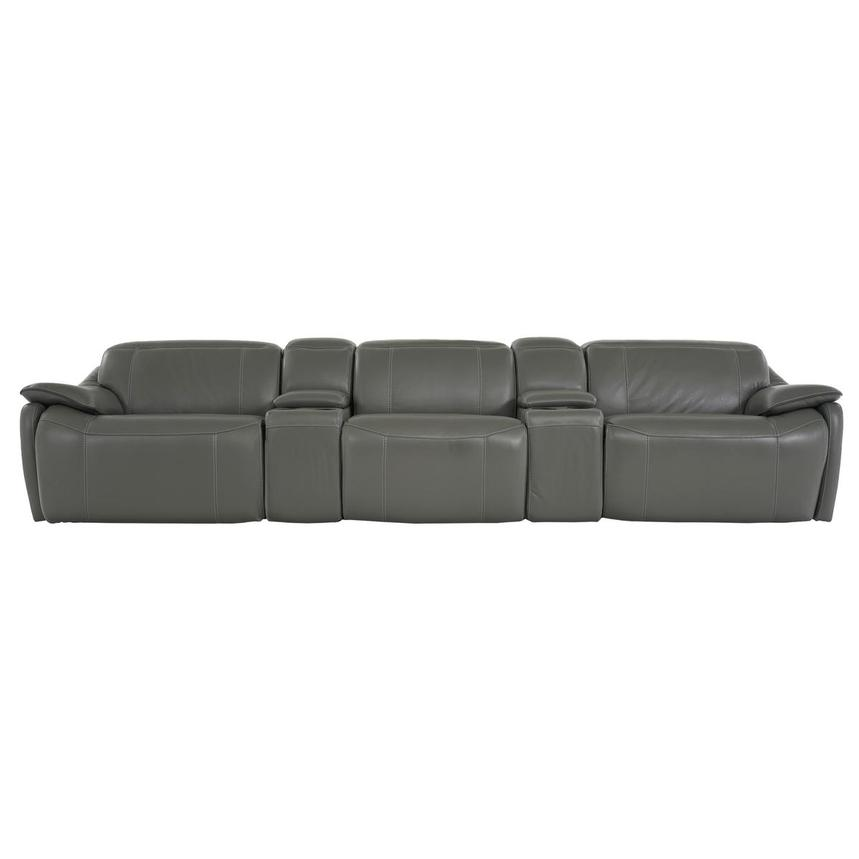 Austin Dark Gray Home Theater Leather Seating
