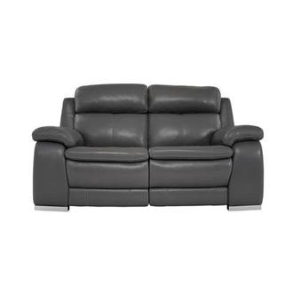 Matteo Gray Leather Power Reclining Loveseat