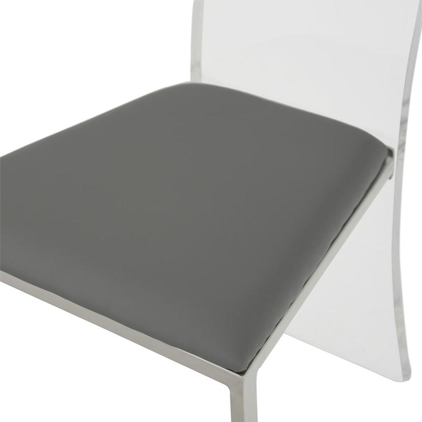 Layra Gray Side Chair  alternate image, 6 of 6 images.