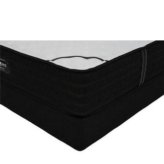 BRB-L-Class Firm Full Mattress w/Low Foundation by Simmons Beautyrest Black
