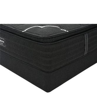 BRB-C-Class PT Full Mattress w/Regular Foundation by Simmons Beautyrest Black