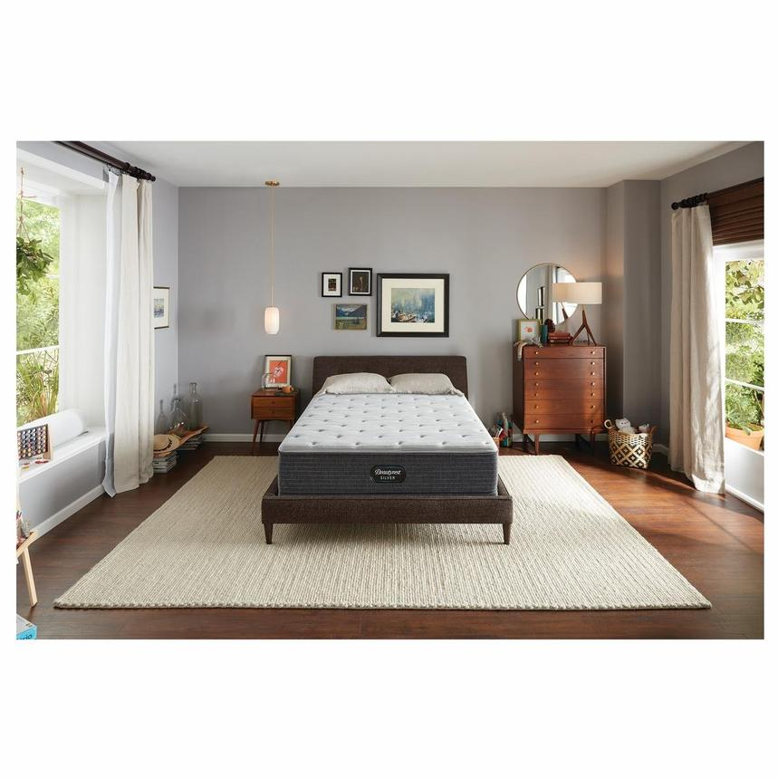 BRS900-TT-Plush King Mattress w/Low Foundation by Simmons Beautyrest Silver  alternate image, 2 of 6 images.