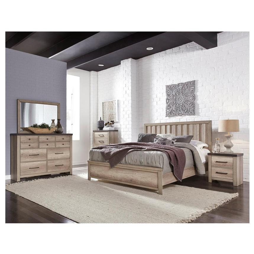 Barn Wood 4-Piece Queen Bedroom Set  alternate image, 2 of 6 images.