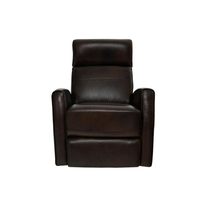 Lucca Brown Power Motion Leather Recliner  main image, 1 of 7 images.