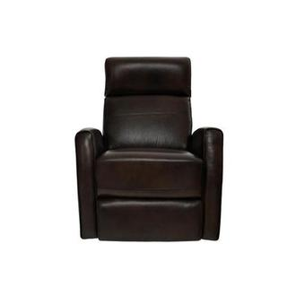 Lucca Brown Leather Power Recliner