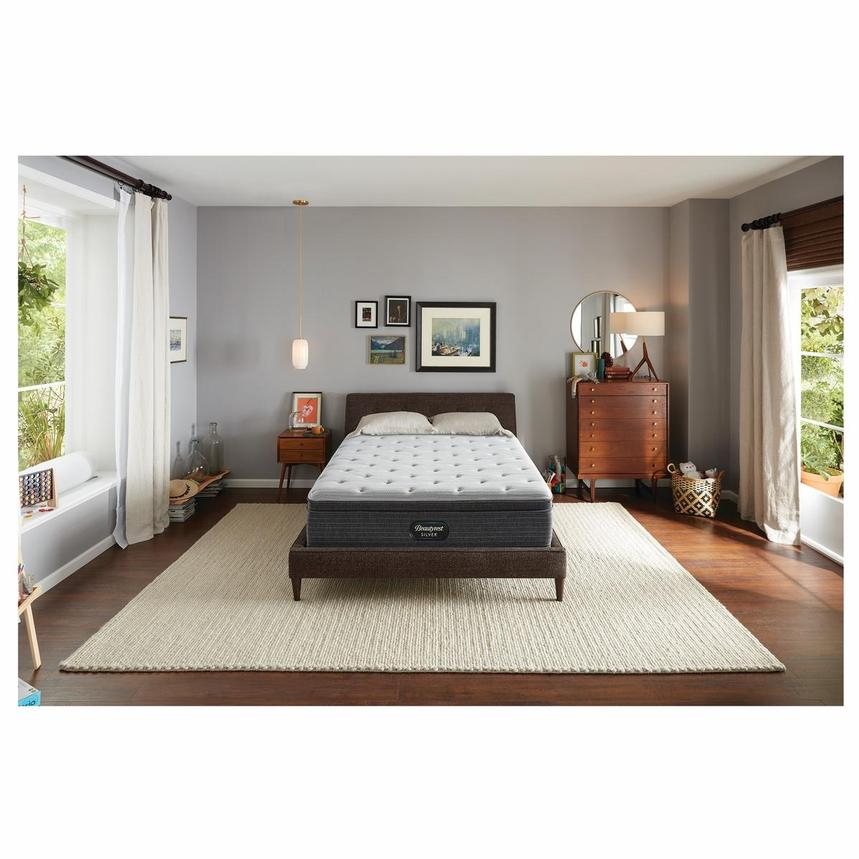 BRS900-ET-MS Queen Mattress w/Low Foundation by Simmons Beautyrest Silver  alternate image, 2 of 6 images.