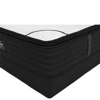 BRB-L-Class PTMS Queen Mattress w/Regular Foundation by Simmons Beautyrest Black