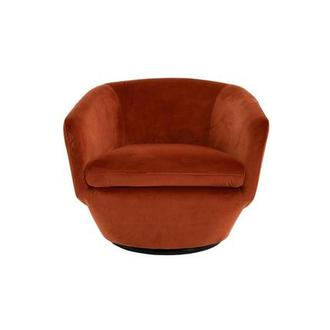 Andy Orange Swivel Accent Chair