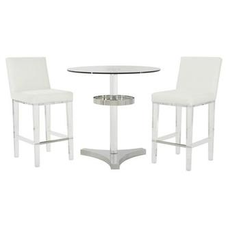 Mina White 3-Piece High Dining Set