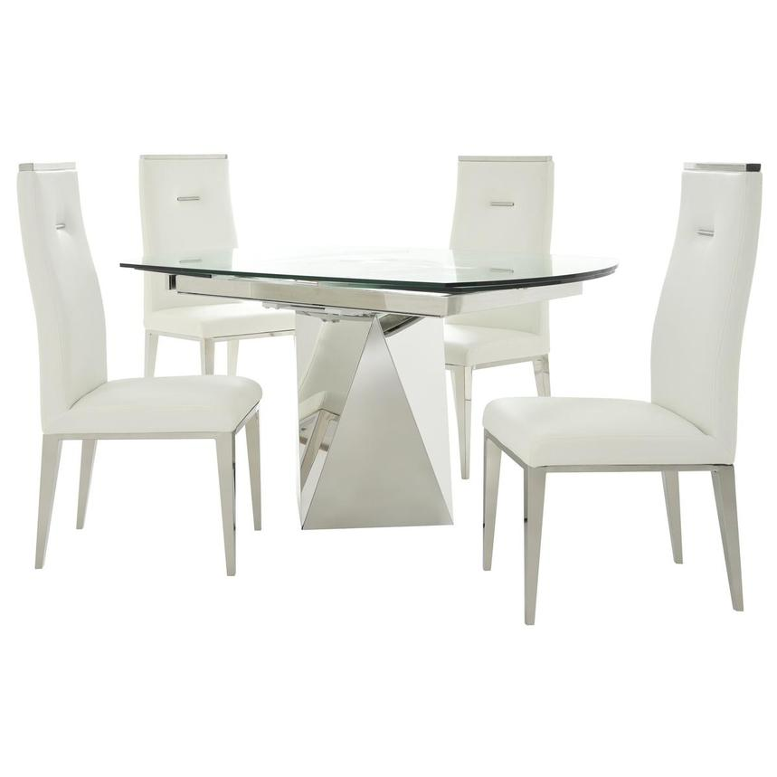 Ulona/Hyde White 5-Piece Formal Dining Set  main image, 1 of 15 images.