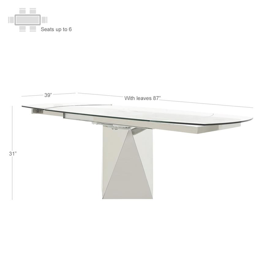 Ulona/Hyde I White 5-Piece Formal Dining Set  alternate image, 5 of 15 images.
