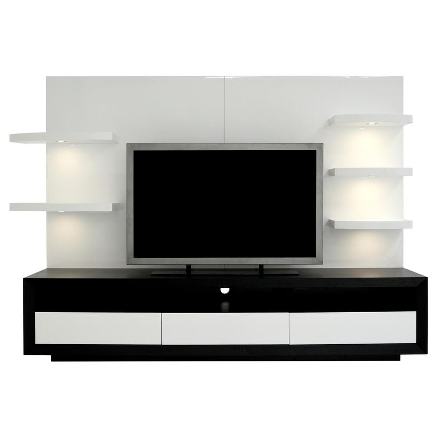 Contour II Black/White Wall Unit  main image, 1 of 9 images.