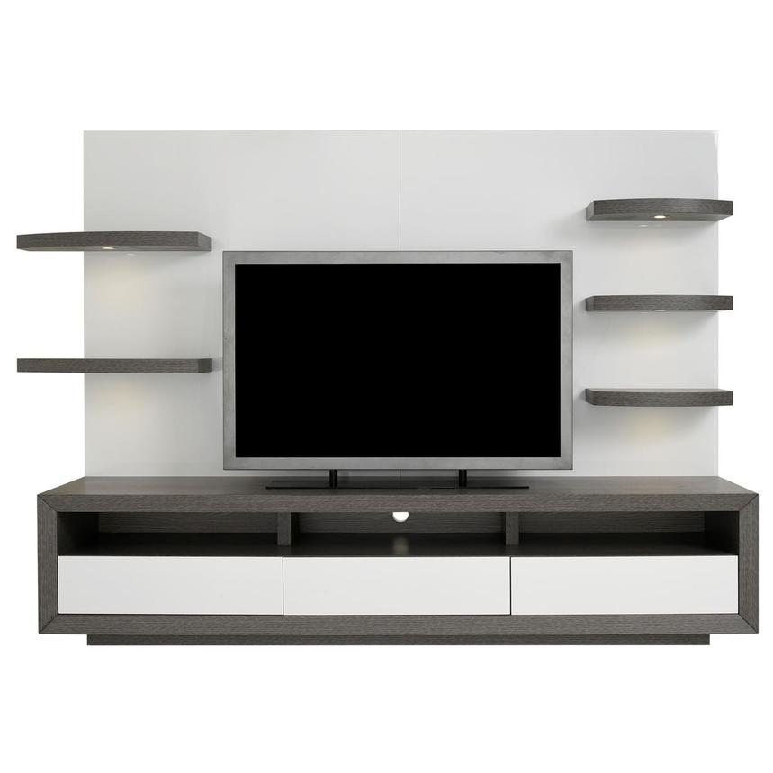 Contour II Gray/White Wall Unit  main image, 1 of 9 images.
