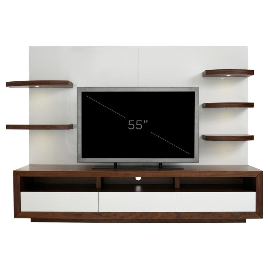 Contour Walnut/White Wall Unit  alternate image, 10 of 10 images.