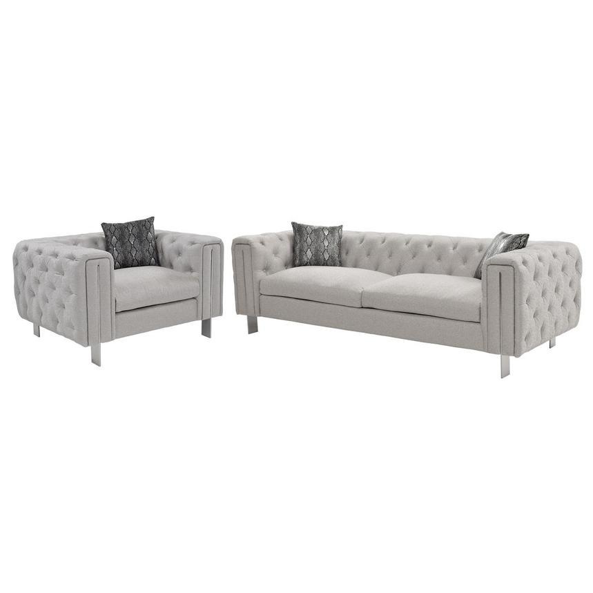 Dimitra Gray Living Room Set