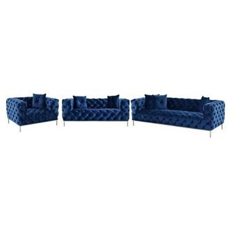 Crandon Blue Living Room Set