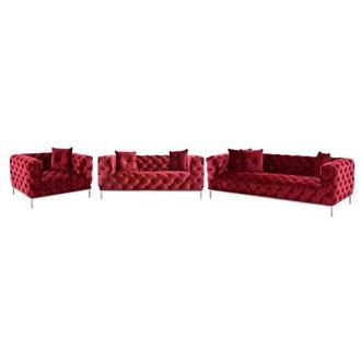 Crandon Red Living Room Set