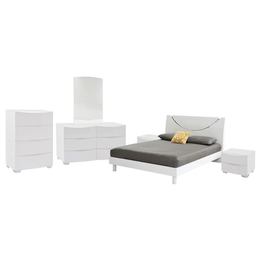 Jolie White 6-Piece Queen Bedroom Set | El Dorado Furniture