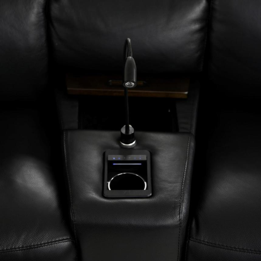 Jeremy Home Theater Leather Seating  alternate image, 10 of 14 images.