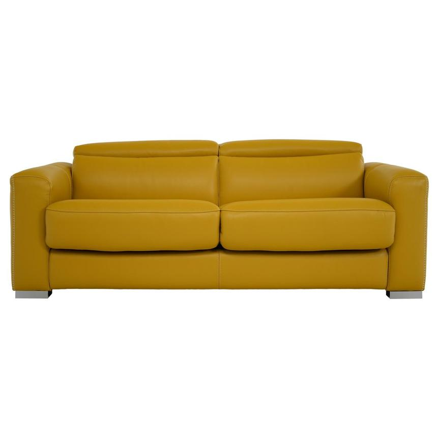 Bay Harbor Yellow Leather Sleeper El