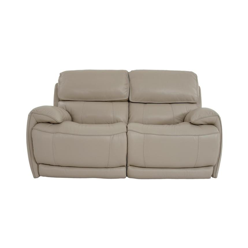 Cody Cream Leather Power Reclining Loveseat  main image, 1 of 11 images.