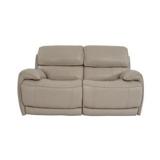 Cody Cream Power Motion Leather Loveseat
