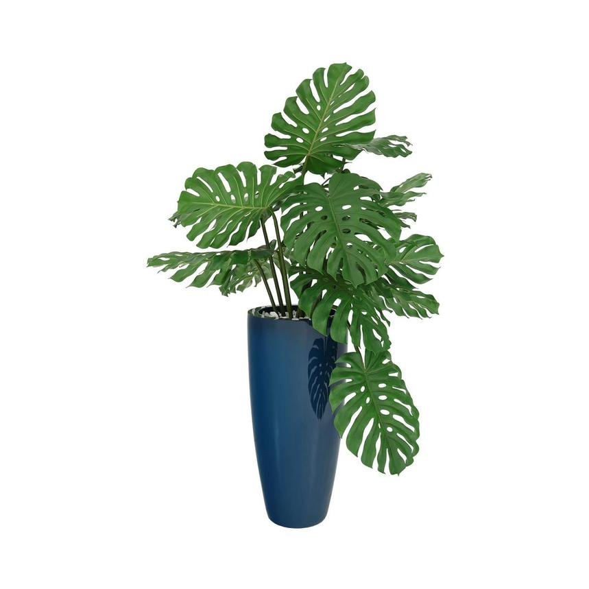 Monstera Blue Planter  main image, 1 of 4 images.