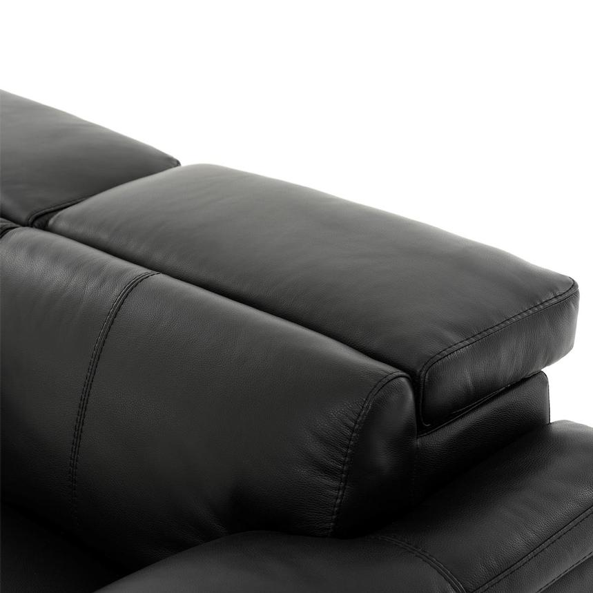Charlie Black Leather Power Reclining Loveseat  alternate image, 7 of 12 images.