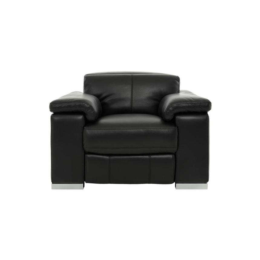 Charlie Black Power Motion Leather Recliner