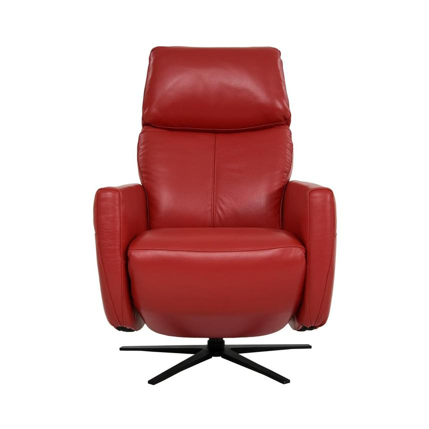 Kirk Red Power Motion Leather Recliner  main image, 1 of 10 images.