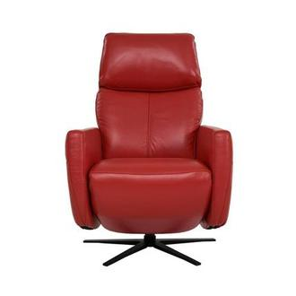 Kirk Red Leather Power Recliner
